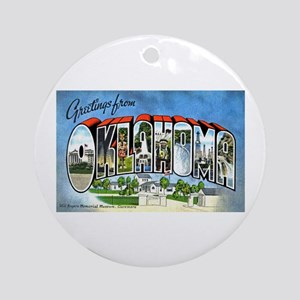 Oklahoma Greetings Ornament (Round)