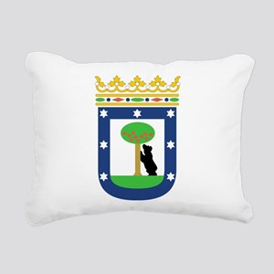 Madrid Coat Of Arms Rectangular Canvas Pillow