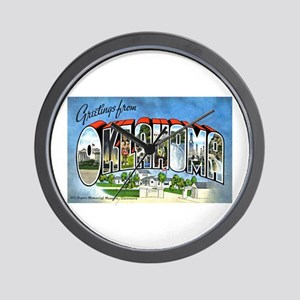 Oklahoma Greetings Wall Clock
