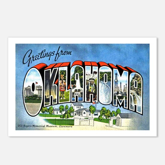 Oklahoma Greetings Postcards (Package of 8)