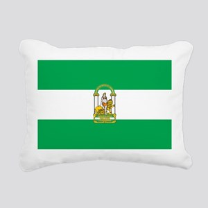 Andalucia Flag Rectangular Canvas Pillow