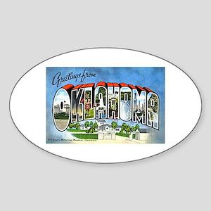 Oklahoma Greetings Oval Sticker