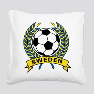 Soccer Sweden Square Canvas Pillow