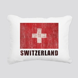Vintage Switzerland Rectangular Canvas Pillow