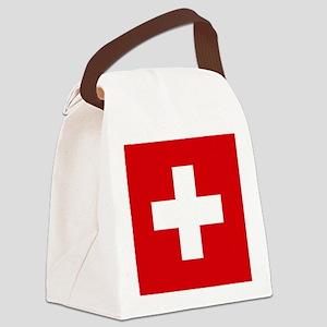 Switzerland Flag Canvas Lunch Bag