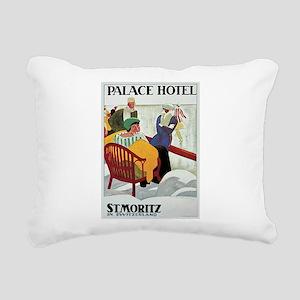 St Moritz Palace Hotel Rectangular Canvas Pillow