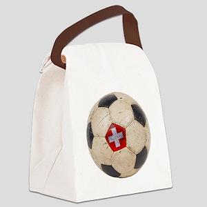 Switzerland Football Canvas Lunch Bag