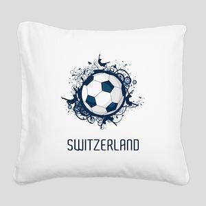 Switzerland Football Square Canvas Pillow
