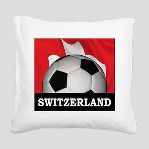 Switzerland Square Canvas Pillow
