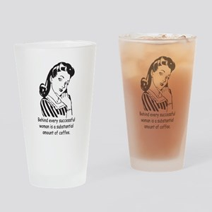 Vintage Housewife Drinking Glass