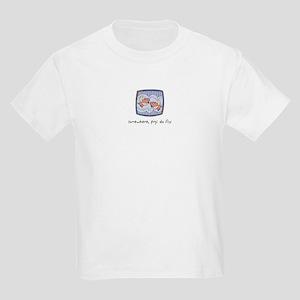 Somewhere, Pigs Do Fly Kids T-Shirt
