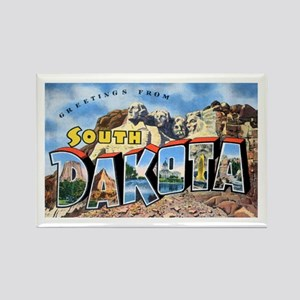 South Dakota Greetings Rectangle Magnet