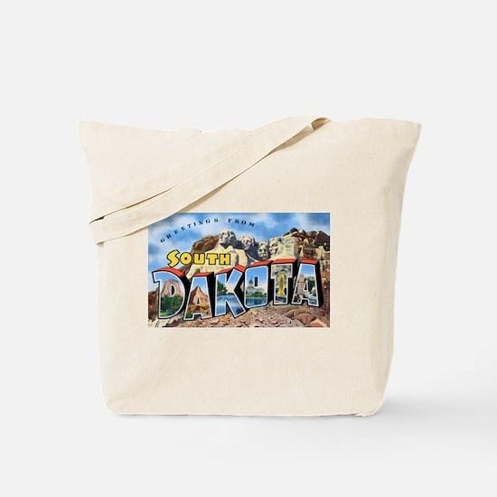 South Dakota Greetings Tote Bag