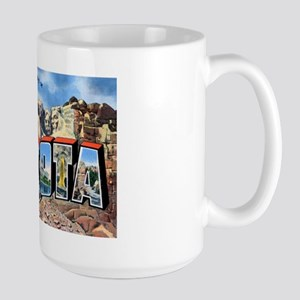 South Dakota Greetings Large Mug