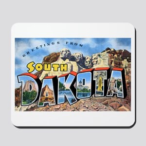South Dakota Greetings Mousepad