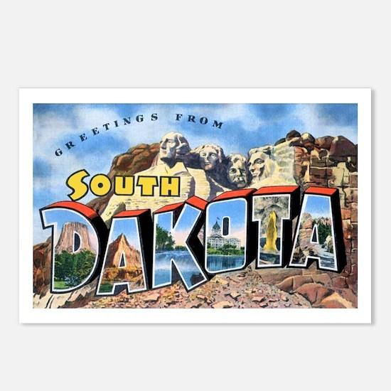 South Dakota Greetings Postcards (Package of 8)