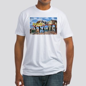 South Dakota Greetings (Front) Fitted T-Shirt