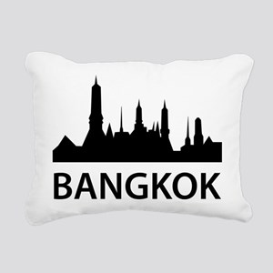 Bangkok Skyline Rectangular Canvas Pillow