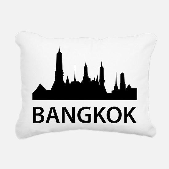 Bangkok Skyline Rectangular Canvas Pillow