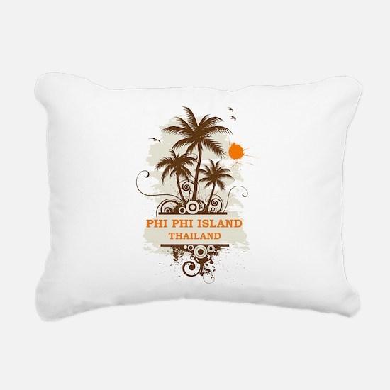 Phi Phi Island Thailand Rectangular Canvas Pillow