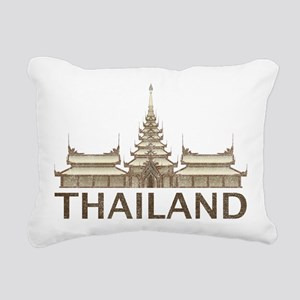 Vintage Thailand Temple Rectangular Canvas Pillow