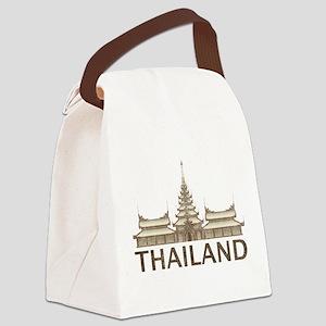 Vintage Thailand Temple Canvas Lunch Bag