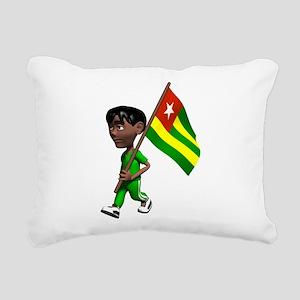 Cute 3D Togo Rectangular Canvas Pillow