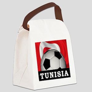 Tunisia Football Canvas Lunch Bag