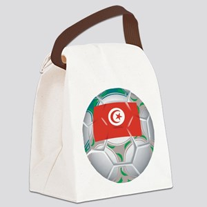 Tunisia Soccer Canvas Lunch Bag