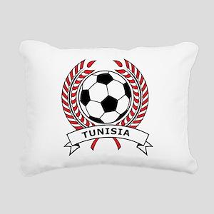 Soccer Tunisia Rectangular Canvas Pillow