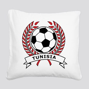Soccer Tunisia Square Canvas Pillow