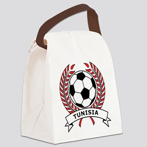 Soccer Tunisia Canvas Lunch Bag