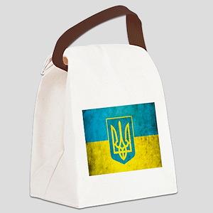 Vintage Ukraine Flag Canvas Lunch Bag