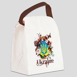 Butterfly Ukraine Canvas Lunch Bag