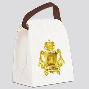Gold Football Uruguay Canvas Lunch Bag