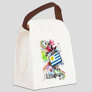 Flower Uruguay Canvas Lunch Bag