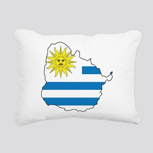 Map Of Uruguay Rectangular Canvas Pillow
