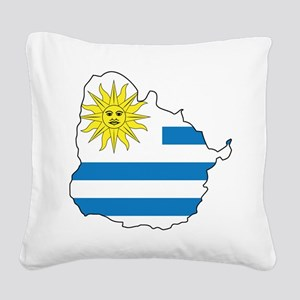 Map Of Uruguay Square Canvas Pillow
