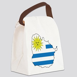 Map Of Uruguay Canvas Lunch Bag