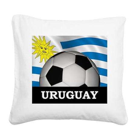 Football Uruguay Square Canvas Pillow