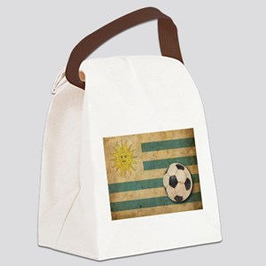 Vintage Uruguay Football Canvas Lunch Bag