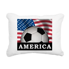USA Soccer Rectangular Canvas Pillow