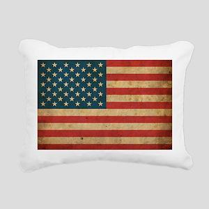 Vintage America Flag Rectangular Canvas Pillow