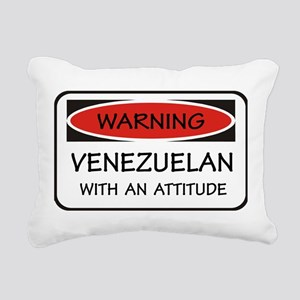 Attitude Venezuelan Rectangular Canvas Pillow