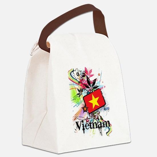 Flower Vietnam Canvas Lunch Bag