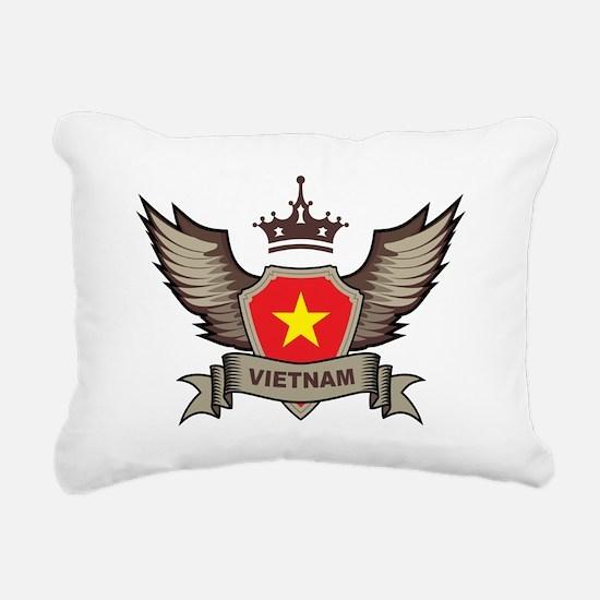Vietnam Emblem Rectangular Canvas Pillow