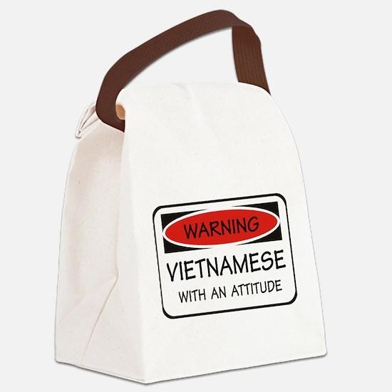 Attitude Vietnamese Canvas Lunch Bag