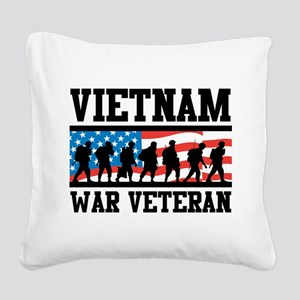 Vietnam War Veteran Square Canvas Pillow