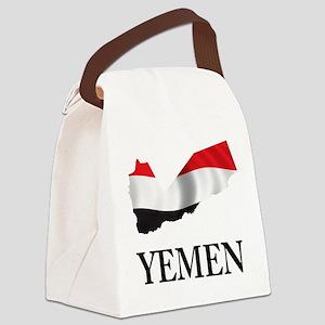 Map Of Yemen Canvas Lunch Bag