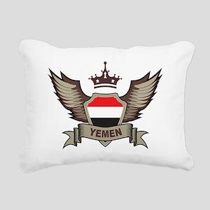 Yemen Emblem Rectangular Canvas Pillow